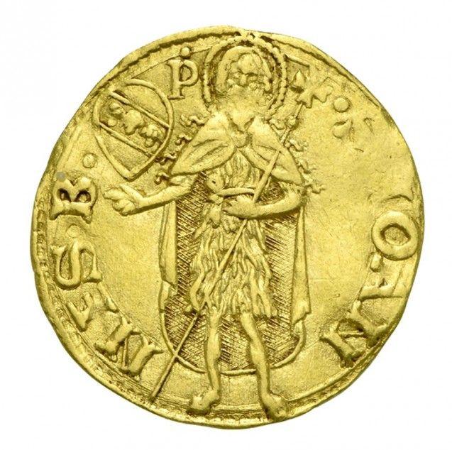 Ein Gulden (Floren) aus Florenz, 1507. (Vorderseite) Aus der Sammlung Benoni Friedländer, erworben 1861. Münzkabinett, Staatliche Museen zu Berlin, Objektnummer 18242834. Foto: Reinhard Saczewski