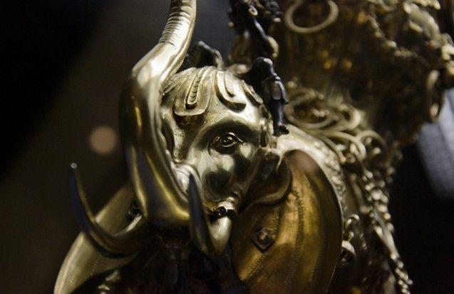 Gießgefäß in Form eines Kriegselefanten von Christoph Jamnitzer, Nürnberg, um 1600. Foto: Fabian Fröhlich