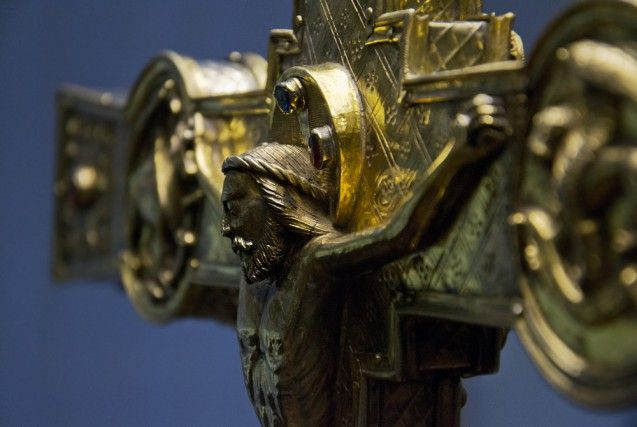 Heinrichskreuz aus dem Münsterschatz in Basel, Westdeutschland, 1. Viertel 11. Jh. Foto: Fabian Fröhlich