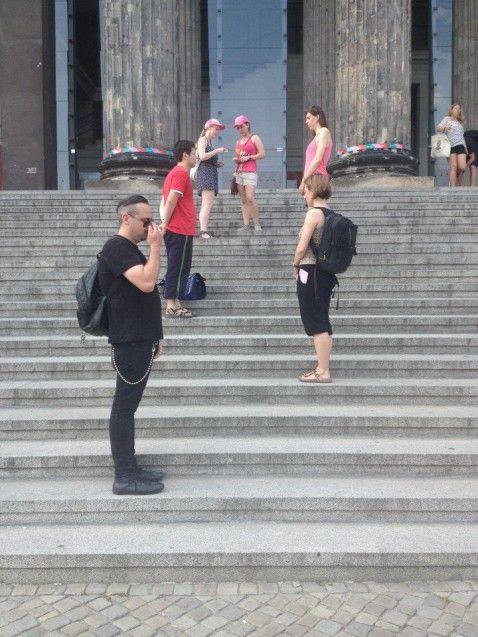Aktion der Gruppe Performance. Foto: Lilli Christoph-Homberg
