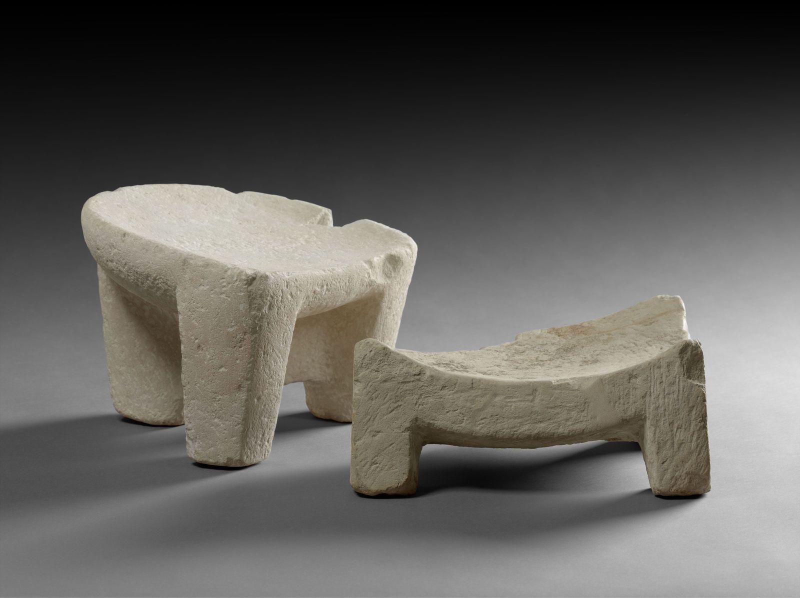 Hocker aus Kalkstein © Staatliche Museen zu Berlin, Ägyptisches Museum und Papyrussammlung / S. Steiß