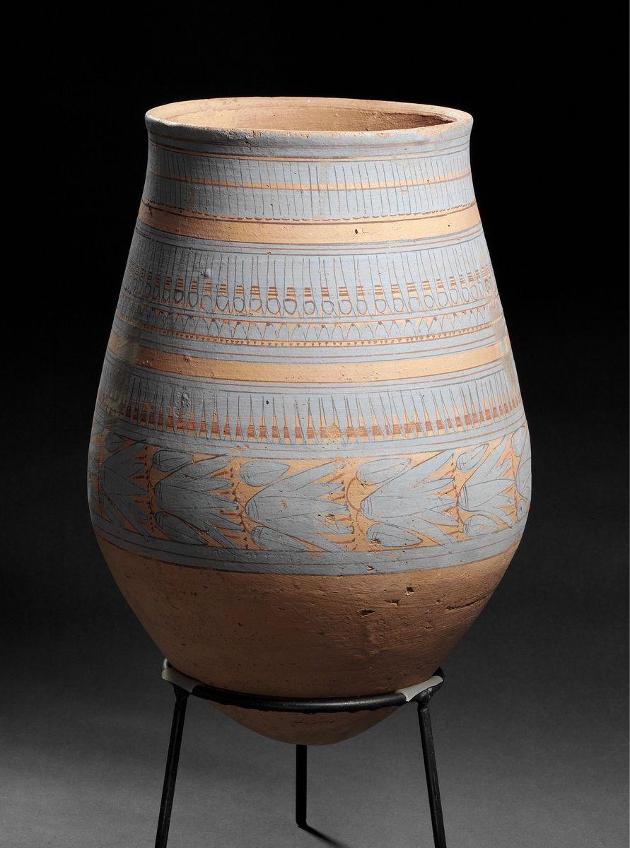 Vorratsgefäß mit amarnazeitlicher kobaltblauer Bemalung © Staatliche Museen zu Berlin, Ägyptisches Museum und Papyrussammlung / S. Steiß