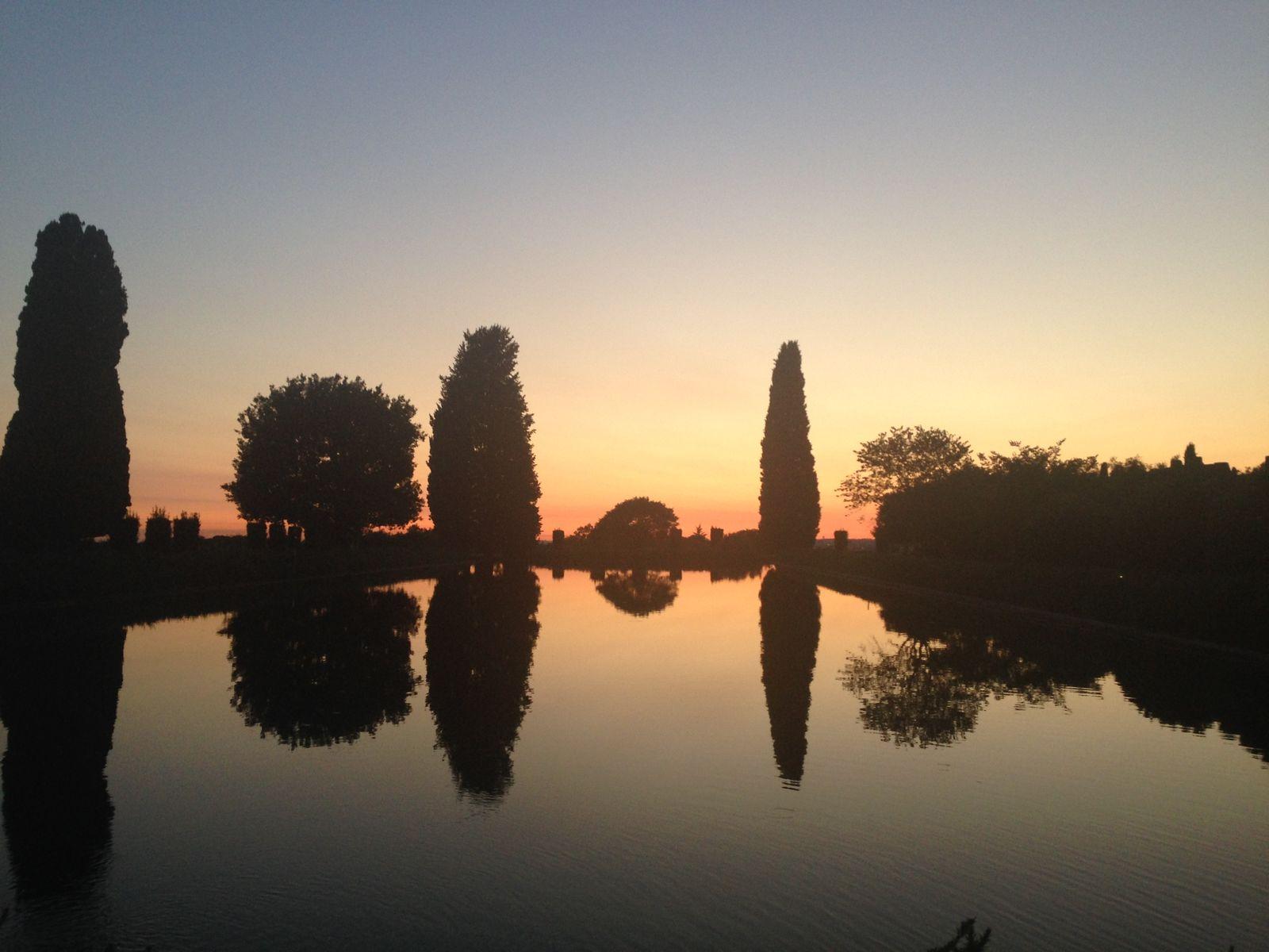 Sonnenuntergang in der Villa Adriana, Tivoli © Staatliche Museen zu Berlin, Ägyptisches Museum und Papyrussammlung / J. Jancziak