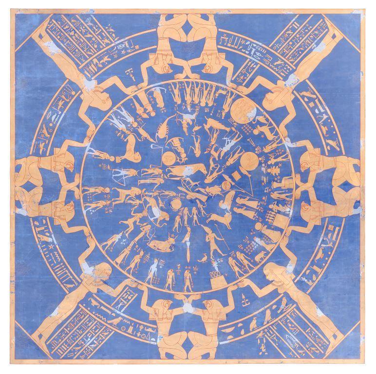 Mythologischer Saal: Tierkreis, dem Dekorationsprogramm des Tempels von Dendera in Ägypten nachempfunden. © Staatliche Museen zu Berlin. Ägyptisches Museum und Papyrussammlung / R. Kriesten