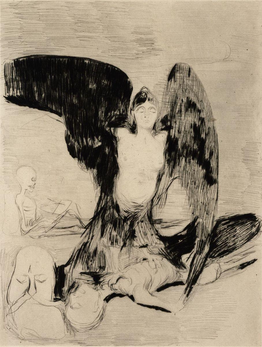 Edvard  Munch: Vampyr, 1894 © bpk/Nationalgalerie SMB, Sammlung Scharf-Gerstenberg. Foto: Volker-H. Schneider