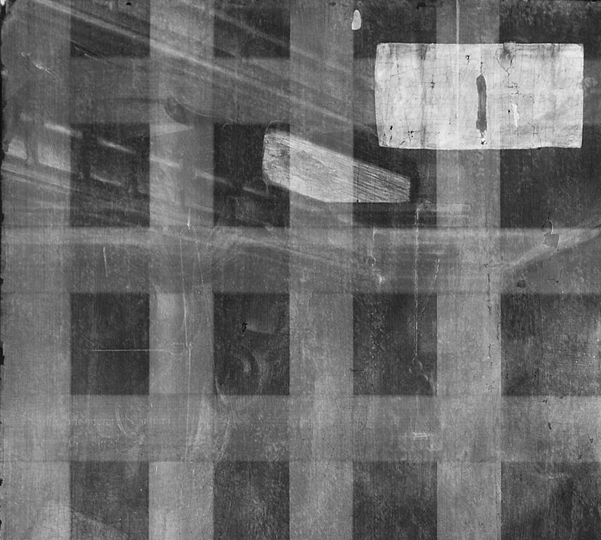 Detail aus der Radiografie, linke obere Ecke