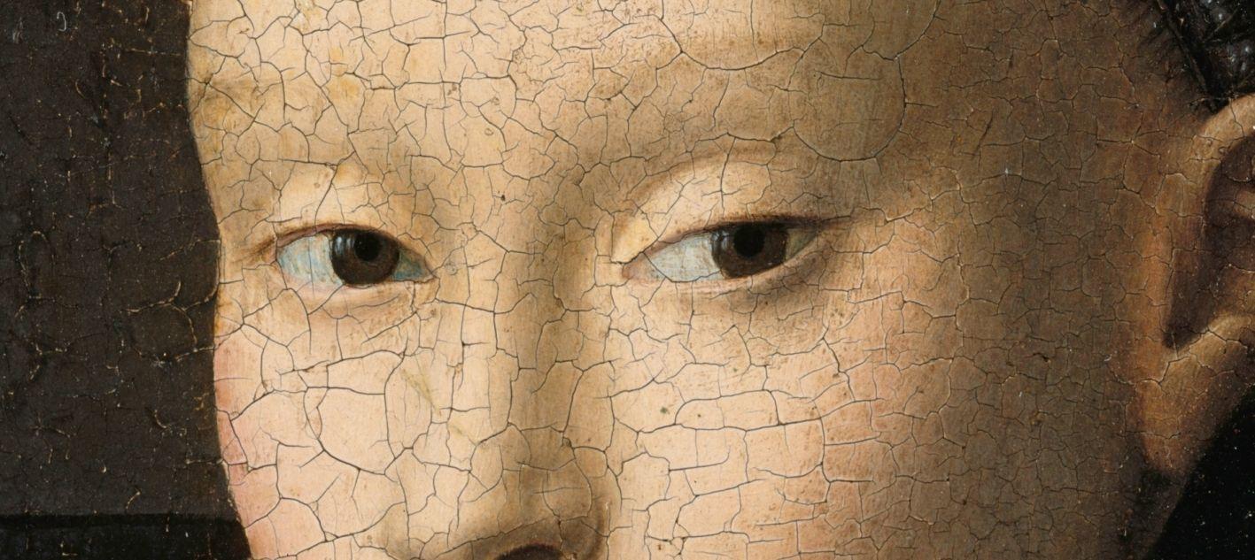 Petrus Christus: Bildnis einer jungen Frau, um 1470, Detail © Staatliche Museen zu Berlin, Gemäldegalerie / Jörg P. Anders
