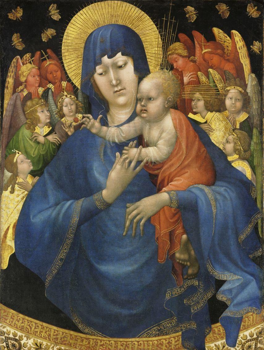 Johan Maelwael zugeschrieben: Madonna mit den Schmetterlingen, um 1415, © Staatliche Museen zu Berlin, Gemäldegalerie / Volker Schneider