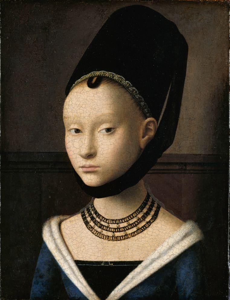 Petrus Christus: Bildnis einer jungen Frau, um 1470 © Staatliche Museen zu  Berlin, Gemäldegalerie / Jörg P. Anders