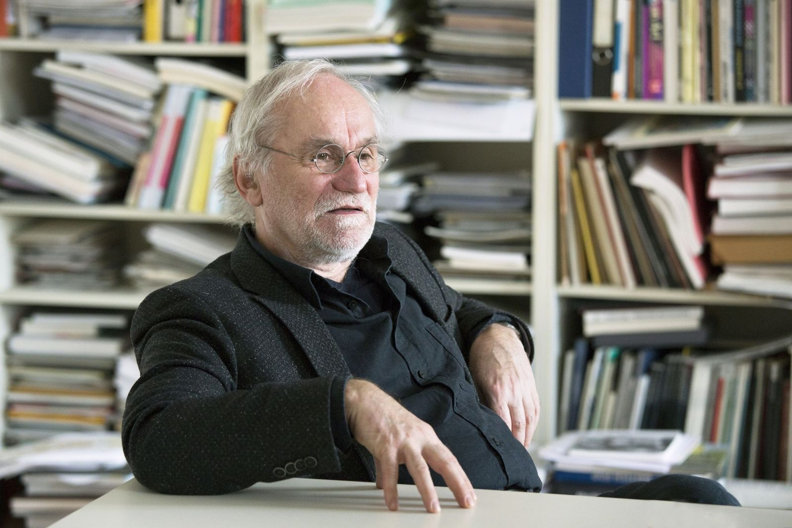 Eugen Blume im Gespräch (c) Staatliche Museen zu Berlin / Juliane Eirich