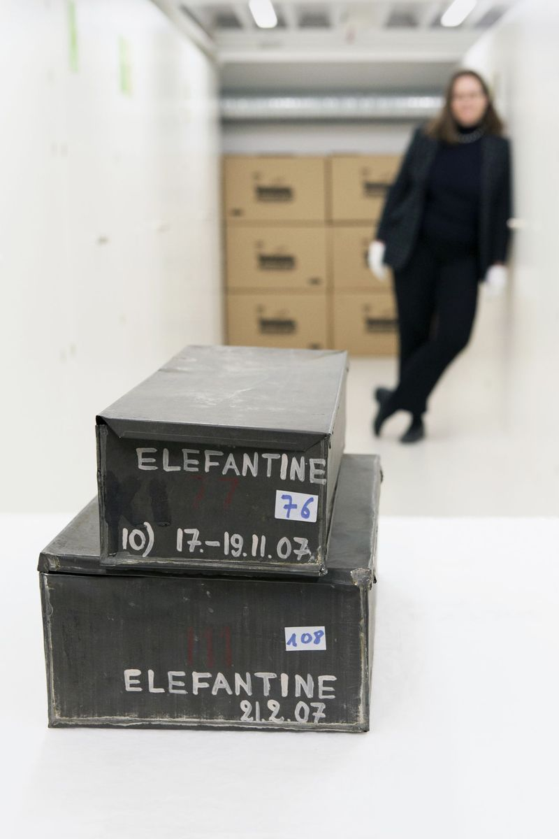 In solchen Kisten kamen die Papyri von der Nilinsel Elephantine zwischen 1906 und 1908 nach Berlin. (c) Staatliche Museen zu Berlin / Juliane Eirich