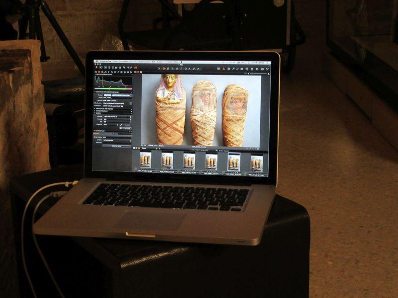Die Ergebnisse der Aufnahmen sehen bereits gut aus. © Staatliche Museen zu Berlin, Ägyptisches Museum und Papyrussammlung