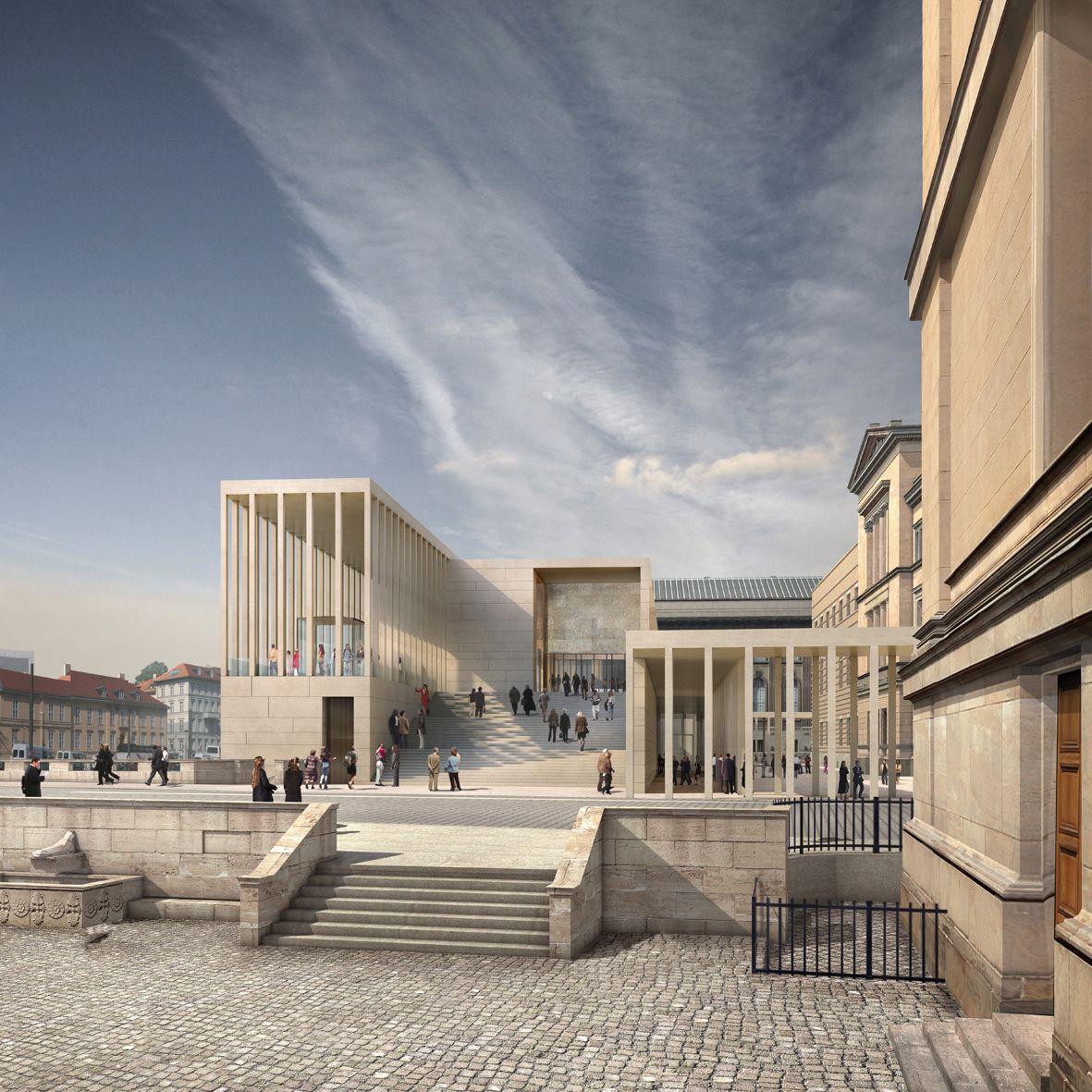 Rendering der James Simon Galerie auf der Museumsinsel in Berlin, Entwurf David Chipperfield Architects © Stiftung Preußischer Kulturbesitz / Imaging Atelier