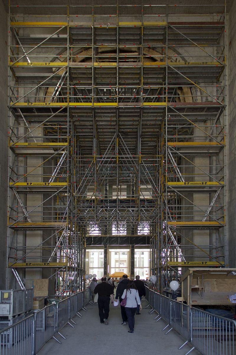 Tag der offenen Baustelle im Berliner Schloss 2016: Eingangsportal