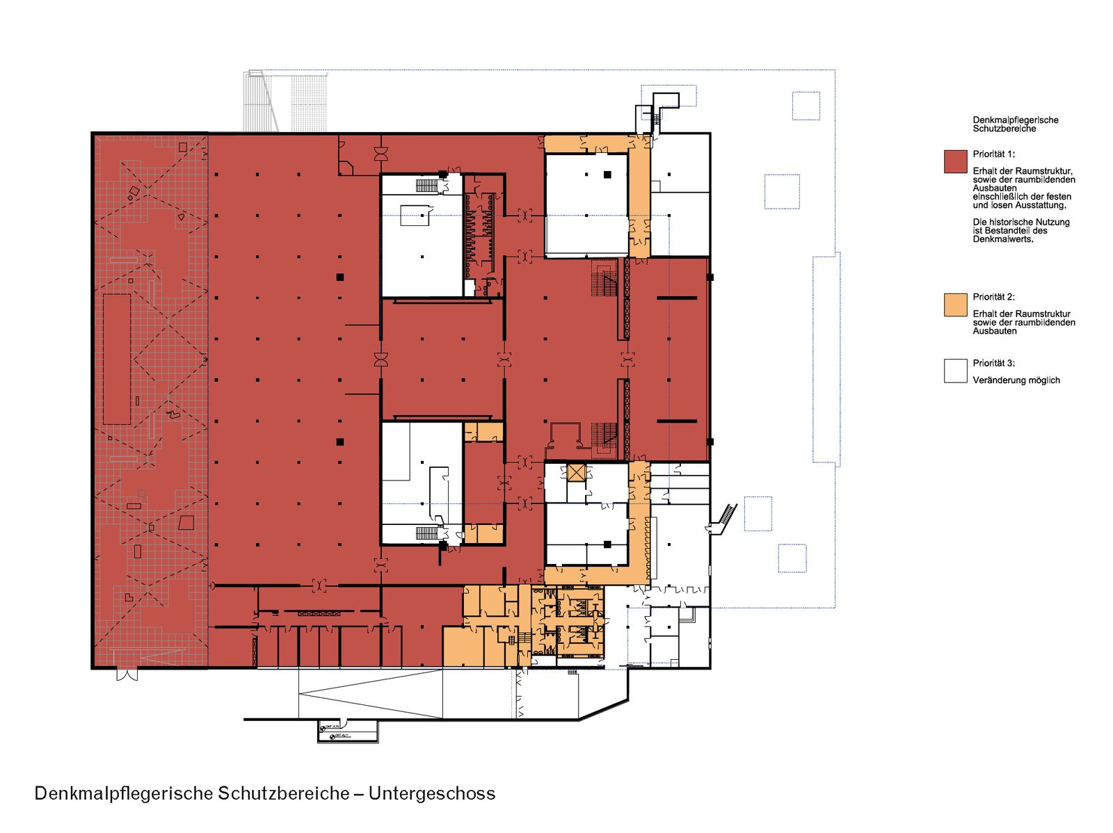 Denkmalpflegerischer Schutzbereich im Untergeschoss der Neuen Nationalgalerie. (c) David Chipperfield Architects für Bundesamt für Bauwesen und Raumordnung (BBR)