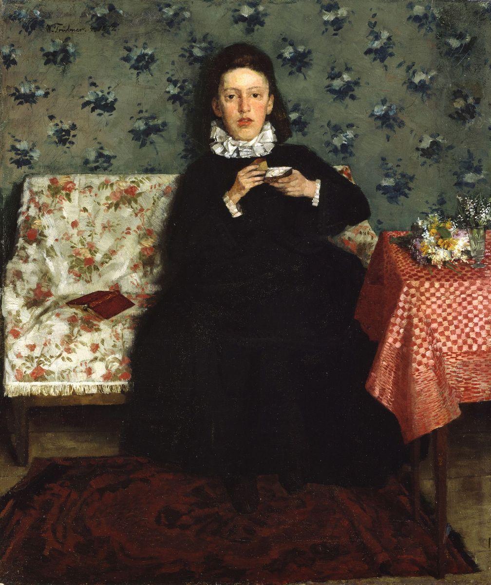 Wilhelm Trübner: Auf dem Kanapee (1872) (c) bpk / Nationalgalerie, SMB / Jörg P. Anders
