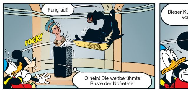 Auszug aus Micky-Maus-Comic auf der Museumsinsel. (c) Disney / Egmont Ehapa