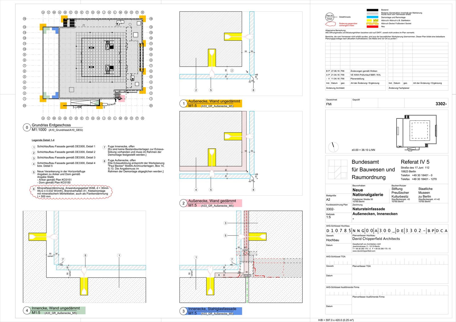 © David Chipperfield Architects für Bundesamt für Bauwesen und Raumordnung (BBR)