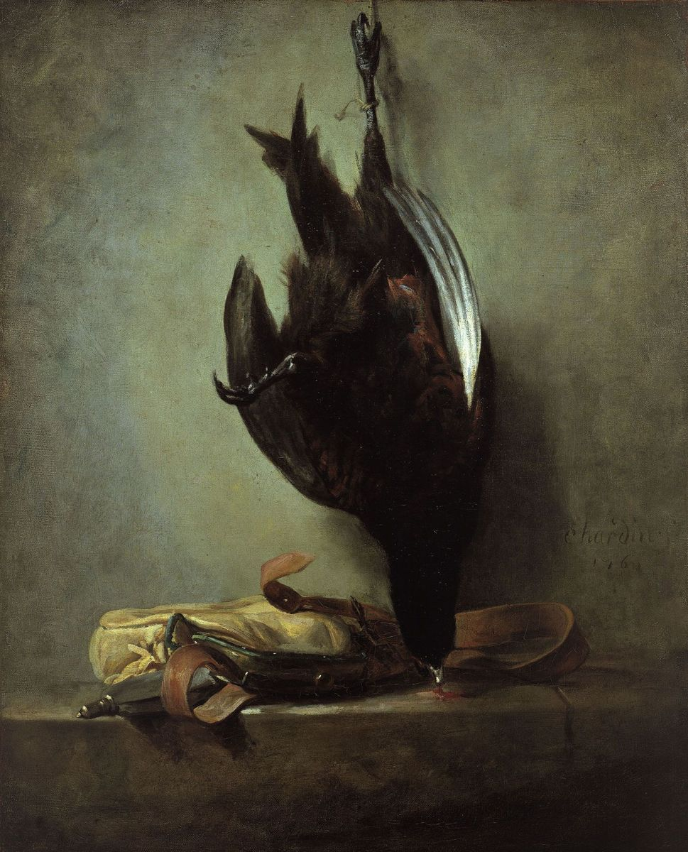 "Jean Siméon Chardin: ""Stillleben mit totem Fasan und Jagdtasche"" (1760);  (c) bpk / Gemäldegalerie, SMB / Jörg P. Anders"