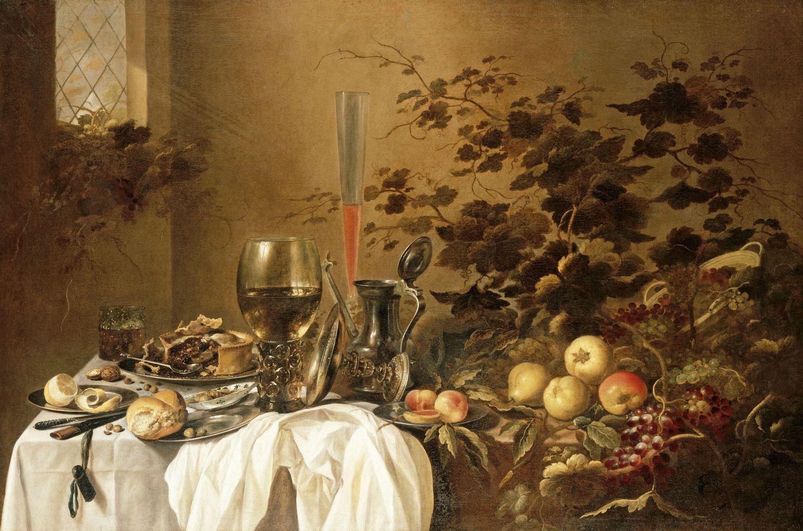Pieter Claesz und Roelof Claesz Koets: Stillleben mit Trinkgefäßen und Früchten (17. Jahrhundert);  (c) bpk / Gemäldegalerie, SMB / Volker-H. Schneider