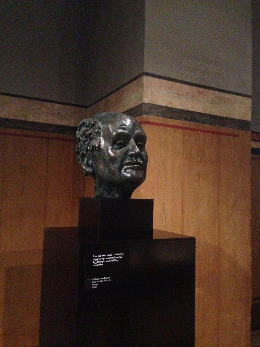 Büste Ludwig Borchardts aus Bronze, Hubertus von Pilgrim, Guss aus dem Jahr 2012 © Staatliche Museen zu Berlin, Ägyptisches Museum und Papyrussammlung / J. Jancziak