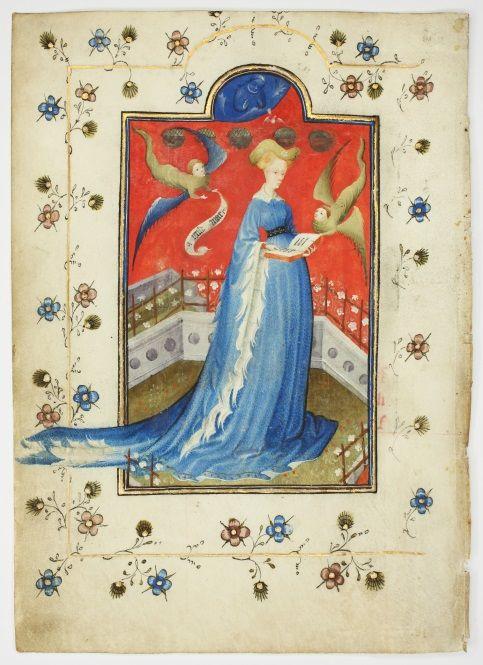 Darstellung Maria von Geldern aus der illuminierten Handschrift S. 19 © Staatsbibliothek zu Berlin, M. Hundertmark