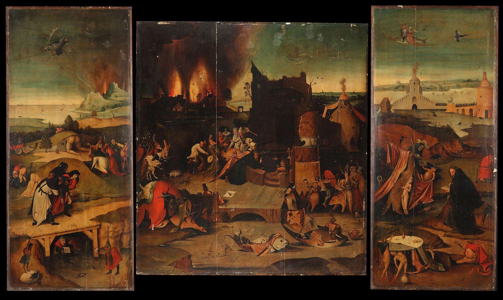 """Das Triptychon der """"Versuchung des hl. Antonius"""" vor der Restaurierung. Foto: Bertram Lorenz"""