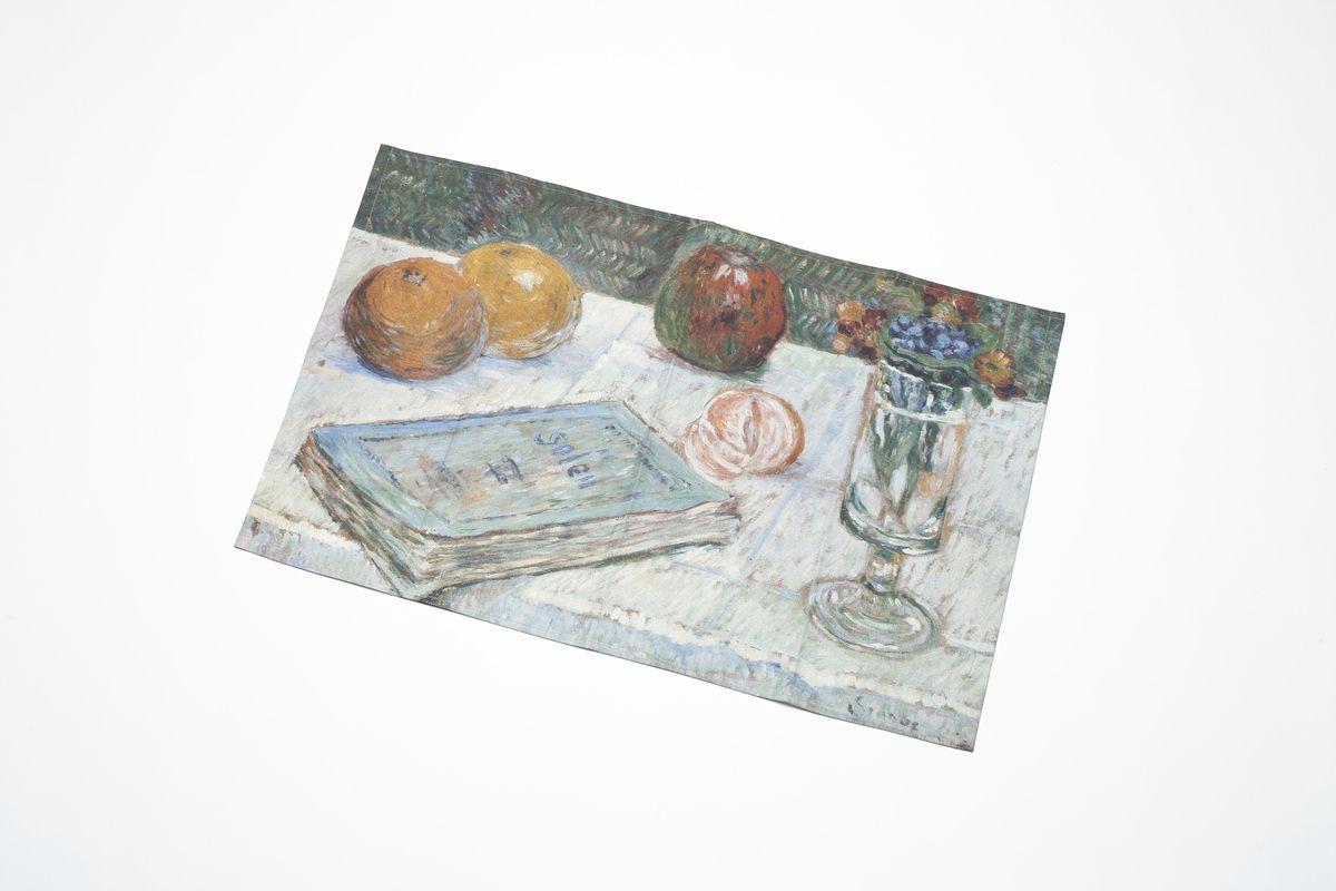 Paul Signac: Stillleben mit einem Buch und Orangen, 1883 © Staatliche Museen zu Berlin, Nationalgalerie / Jörg P. Anders