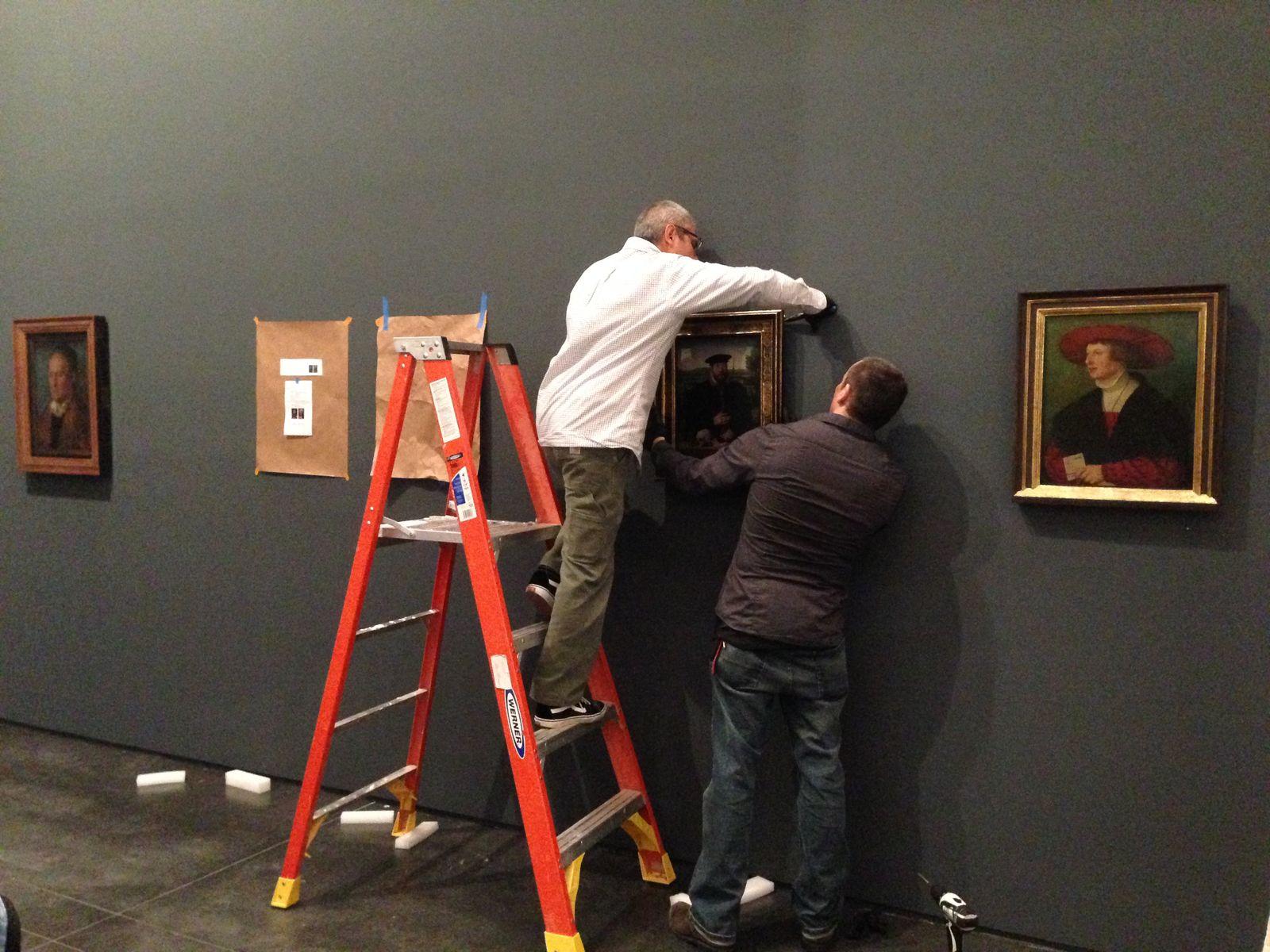 Innerhalb von zwei Tagen wurden die Bilder aus der Berliner Gemäldegalerie gehängt. Foto: Staatliche Museen zu Berlin / Maria Zielke