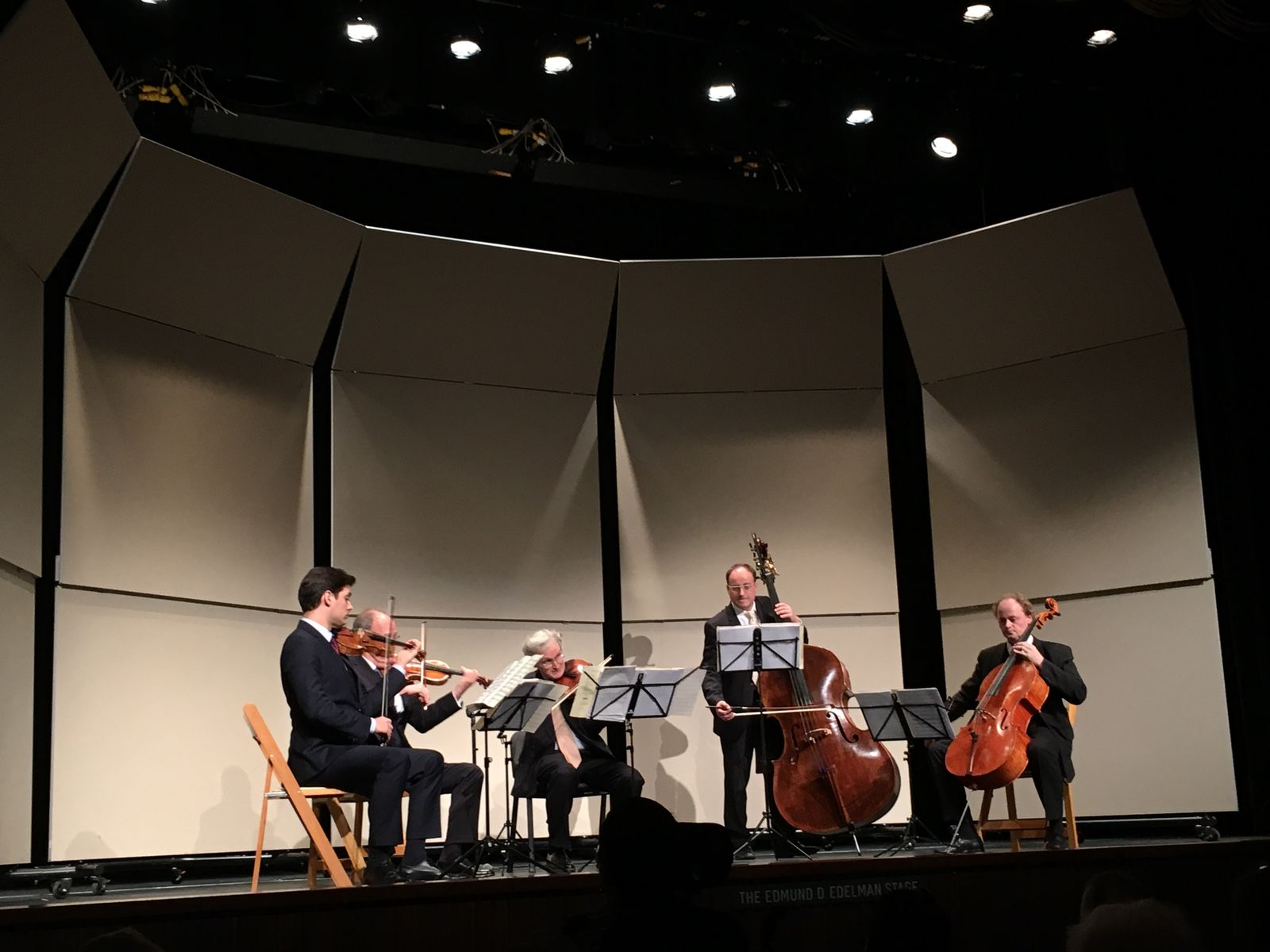 Kathrin Hasskamp (Berlin/ Dresden): Das Philharmonische Quintett der Berliner Philharmoniker beehrte uns und Besucher des LACMA mit einem Sonderkonzert im Rahmen der Ausstellung. Foto: Kathrin Hasskamp