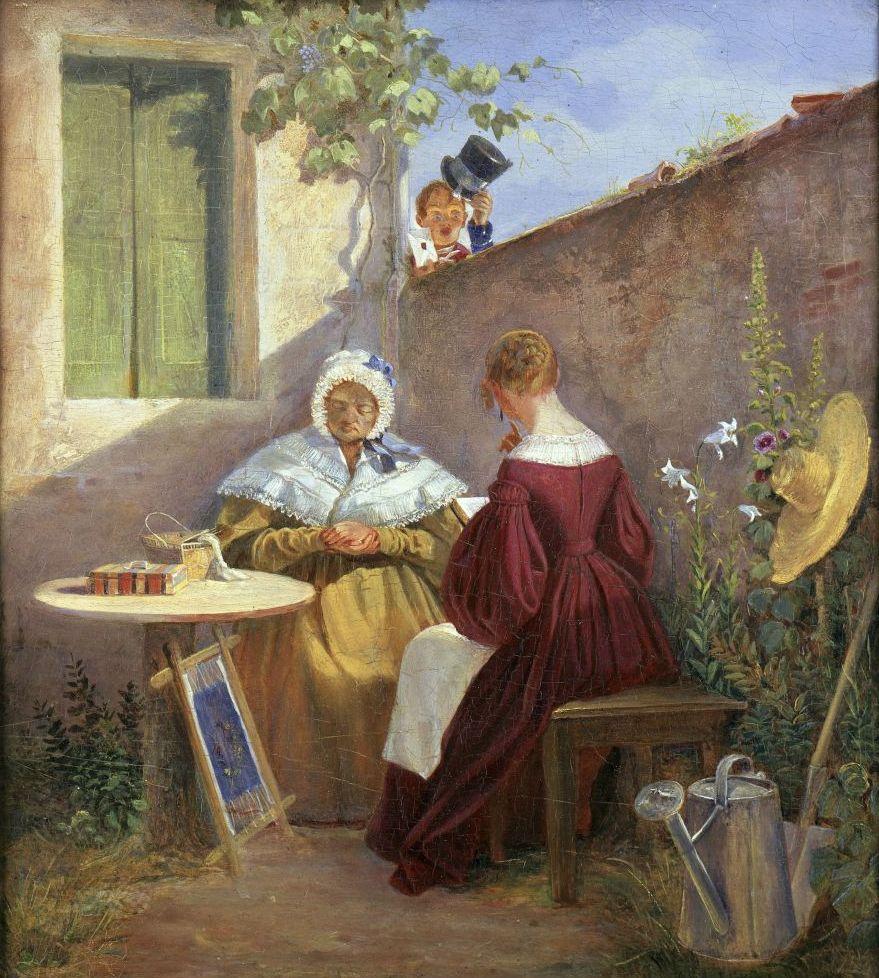 Carl Spitzweg: Der Liebesbrief (1845-46). © bpk / Staatliche Museen zu Berlin, Nationalgalerie; Foto: Jörg P. Anders