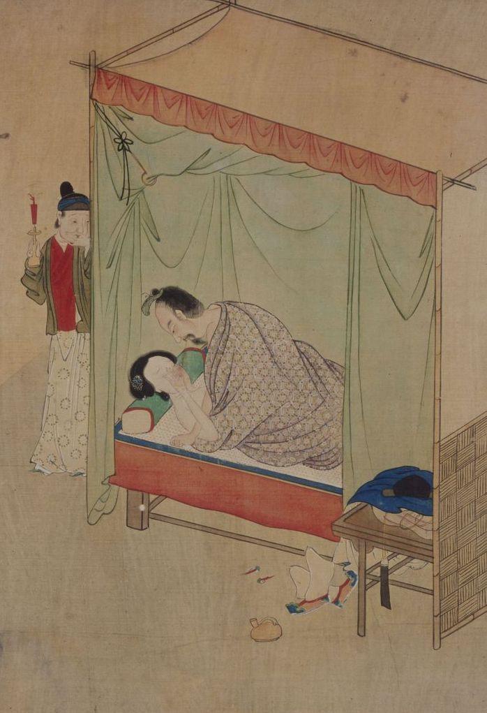 In einem chinesischen Freudenhaus - Beischlaf unter Zeugen, nach Liu Sung-nien (2. Hälfte 19. Jh.). © bpk / Staatliche Museen zu Berlin, Kunstbibliothek; Foto: Knud Petersen