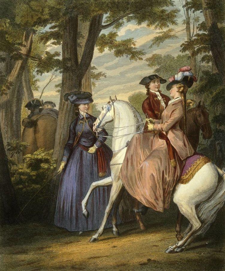 """Rendezvous im Bois de Bologne"""", Kupferstich nach einer Zeichnung von Jean Michel Moreau d. J. (1784). © bpk / Staatliche Museen zu Berlin, Kunstbibliothek; Foto: Dietmar Katz"""
