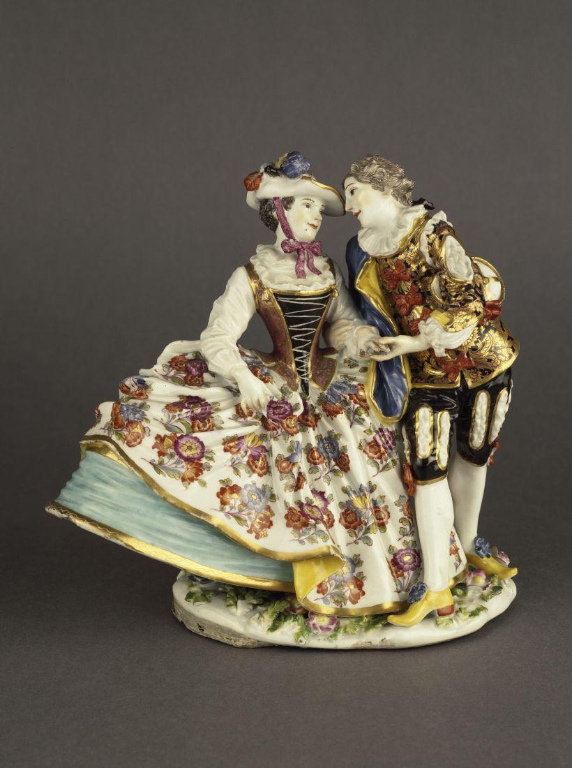 Johann Joachim Kändler: Liebespaar in spanischem Kostüm (1740). © bpk / Staatliche Museen zu Berlin, Kunstgewerbemuseum; Foto: Arne Psille
