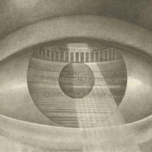 Claude-Nicolas Ledoux, Coup-d'œil du Theatre de Besançon (Das Auge des Architekten), Tafel 113 aus: Ledoux, L'Architecture considérée […], Paris 1804. © Kunstbibliothek, Staatliche Museen zu Berlin / Foto: Dietmar Katz