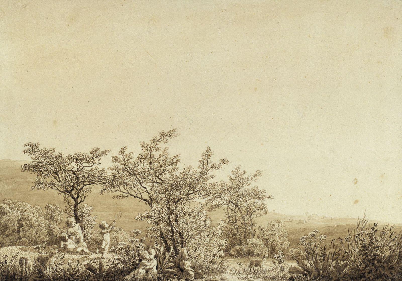 Caspar David Friedrich: Der Frühling - Der Morgen - Die Kindheit, 1803 ©  bpk / Kupferstichkabinett, SMB