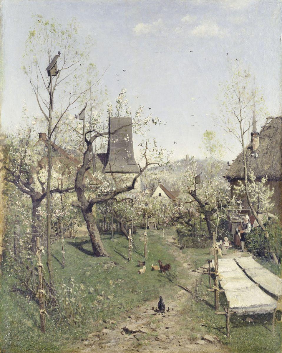 Karl Buchholz: Frühling in Oberweimar, 1868 ©  bpk / Nationalgalerie, SMB / Andres Kilger