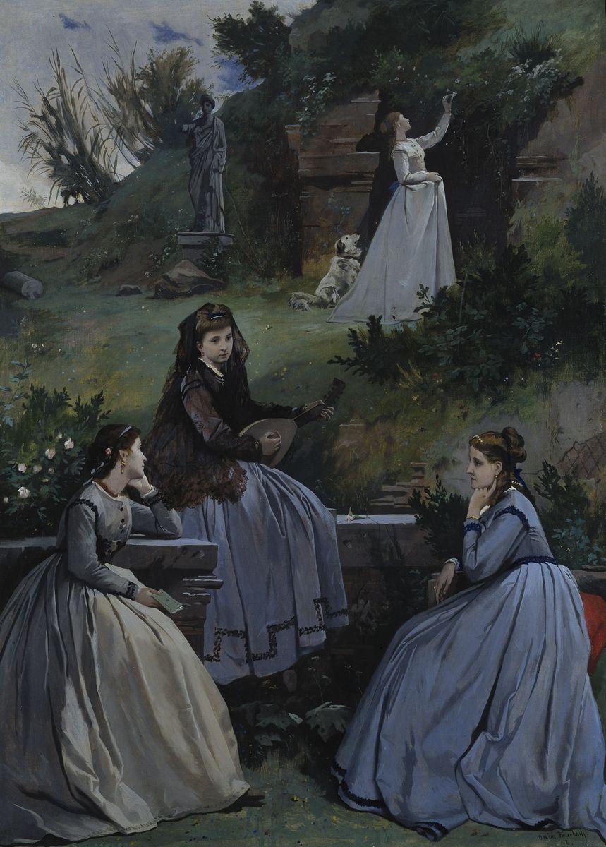 Anselm Feuerbach: Frühlingsbild, 1868 ©  bpk / Nationalgalerie, SMB / Andres Kilger