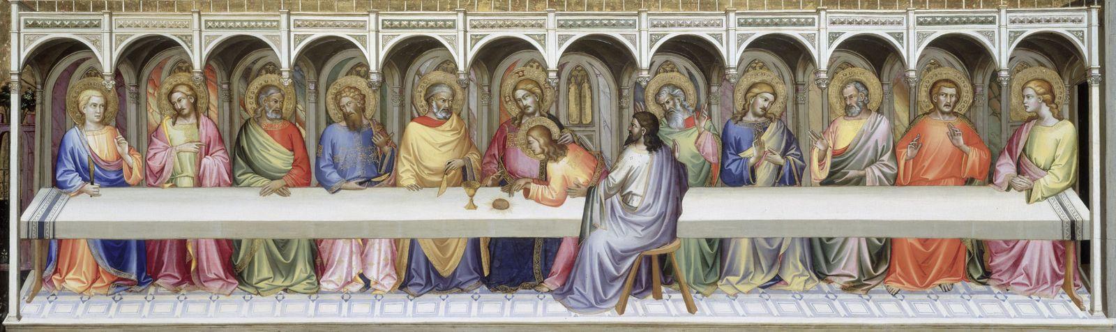Lorenzo Monaco: Das Abendmahl, 1389/90 © bpk / Gemäldegalerie, SMB / Jörg P. Anders