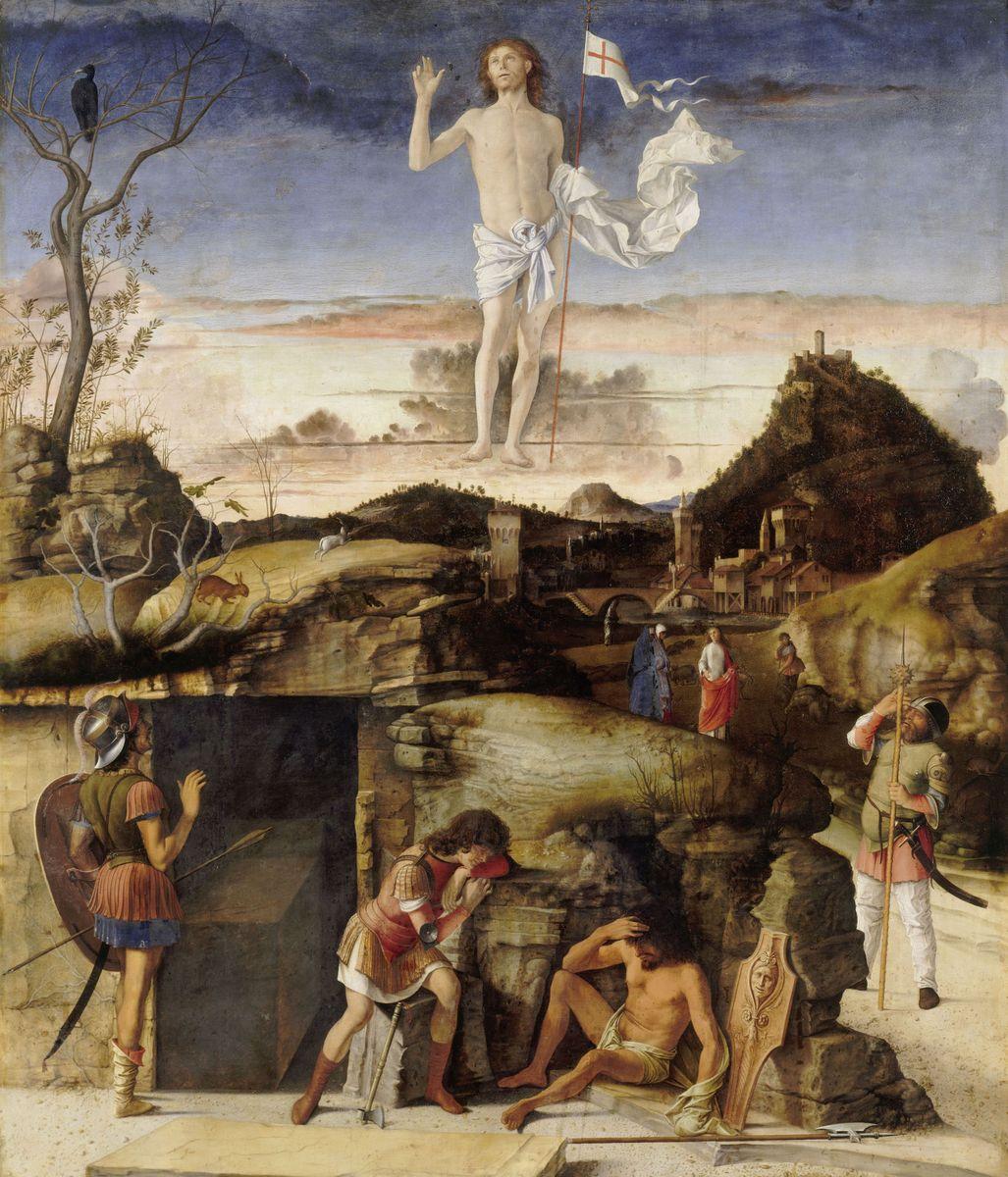 Giovanni Bellini: Die Auferstehung Christi, um 1475/79 © bpk / Gemäldegalerie, SMB / Jörg P. Anders