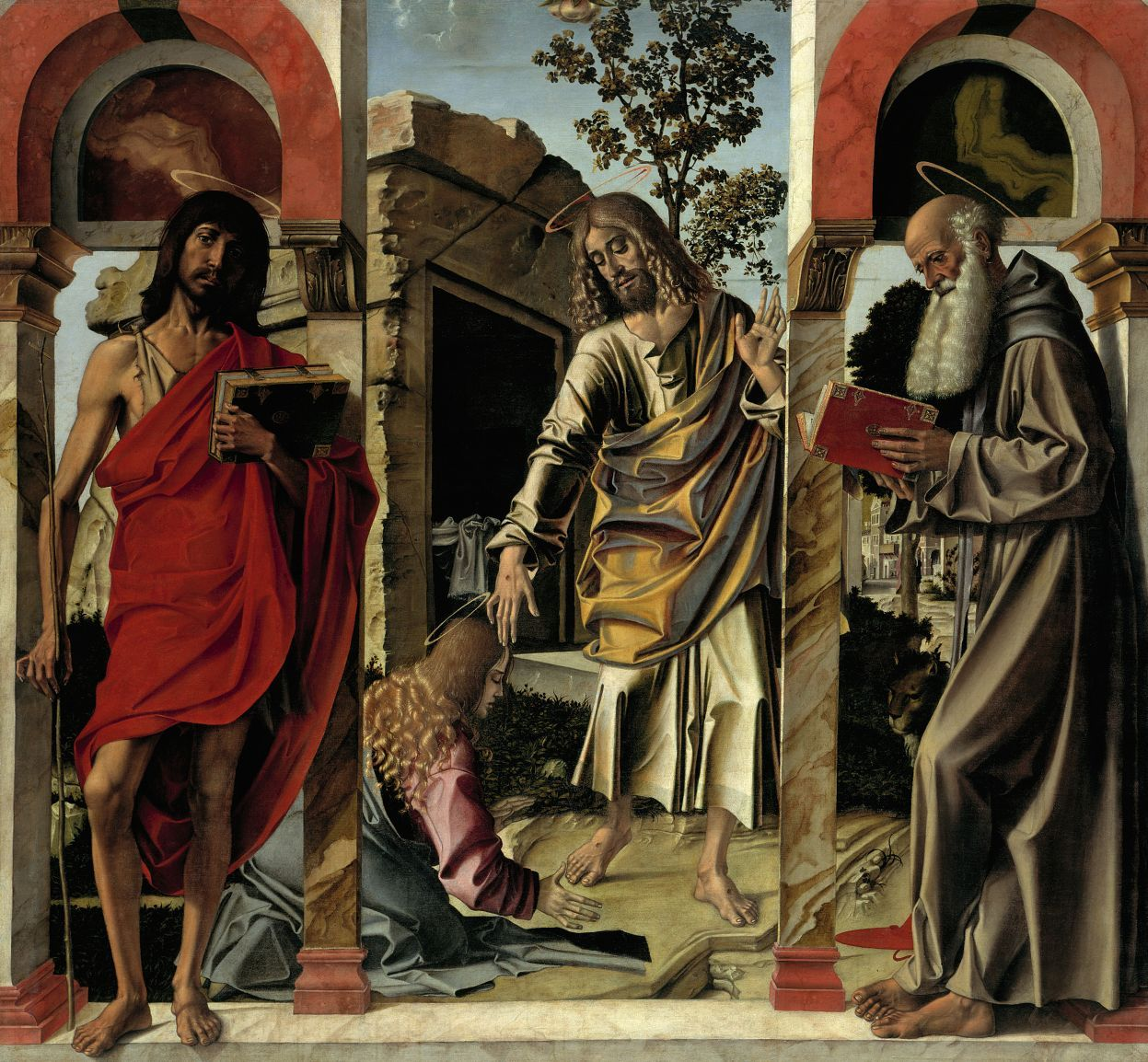 Bartolomeo Montagna: Der auferstandene Christus mit Maria Magdalena © bpk / Gemäldegalerie, SMB / Jörg P. Anders