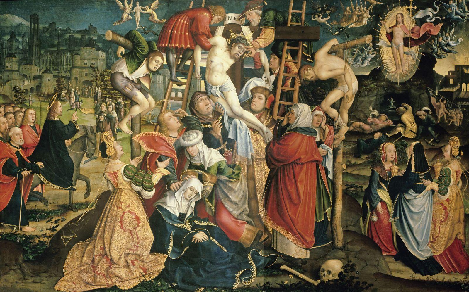 Jacob van Utrecht: Kreuzabnahme, 16. Jh. © bpk / Gemäldegalerie, SMB / Jörg P. Anders