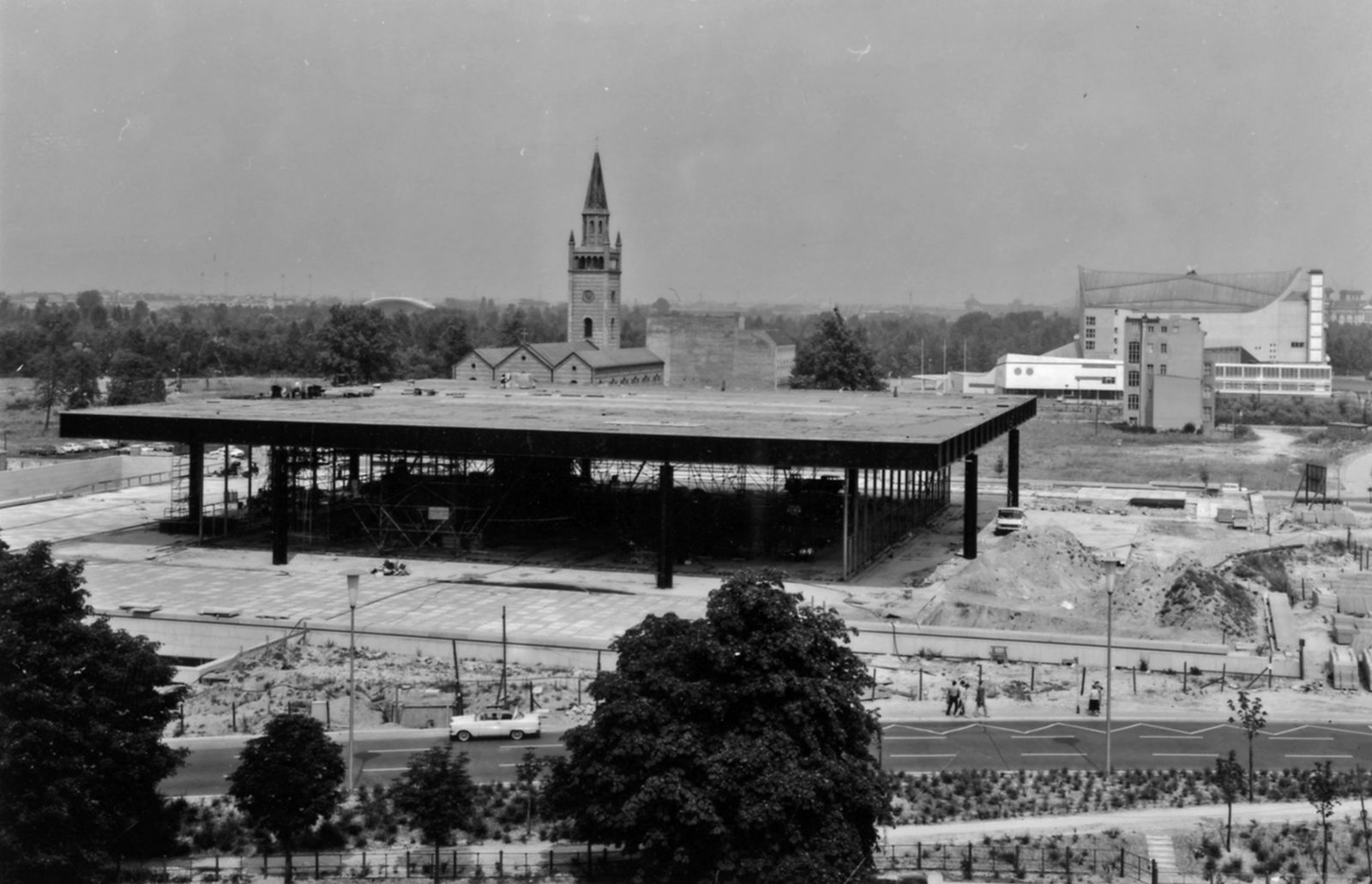 Die Neue Nationalgalerie im Bau, Foto: Staatliche Museen zu Berlin, Zentralarchiv, Reinhard Friedrich
