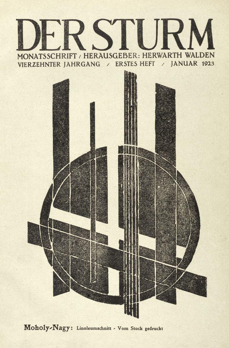 """Titelblatt der Monatsschrift """"Der Sturm"""", herausgegeben von Herwarth Walden, vom Januar 1923 ©  bpk / Kunstbibliothek, SMB / Dietmar Katz"""