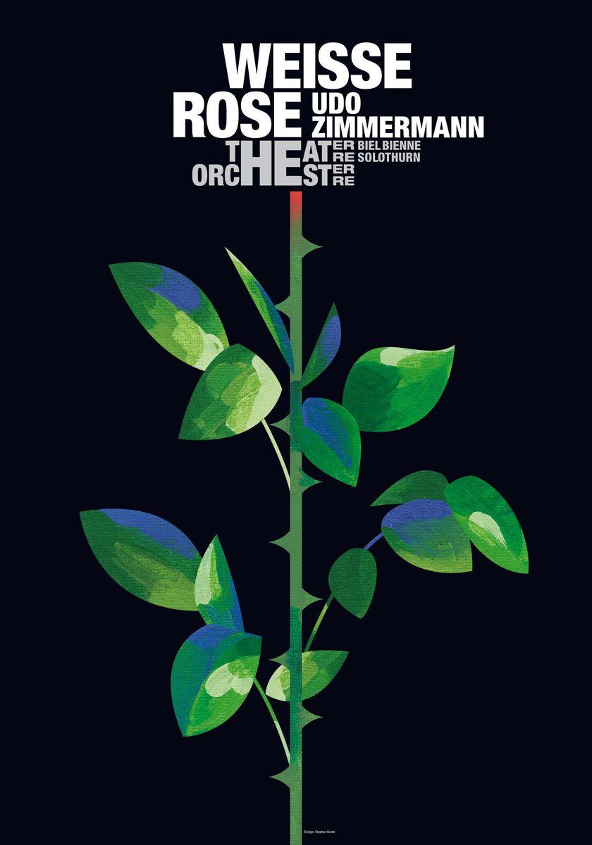 """Stephan Bundi (Boll): """"Weisse Rose"""" © 100 Beste Plakate e. V."""