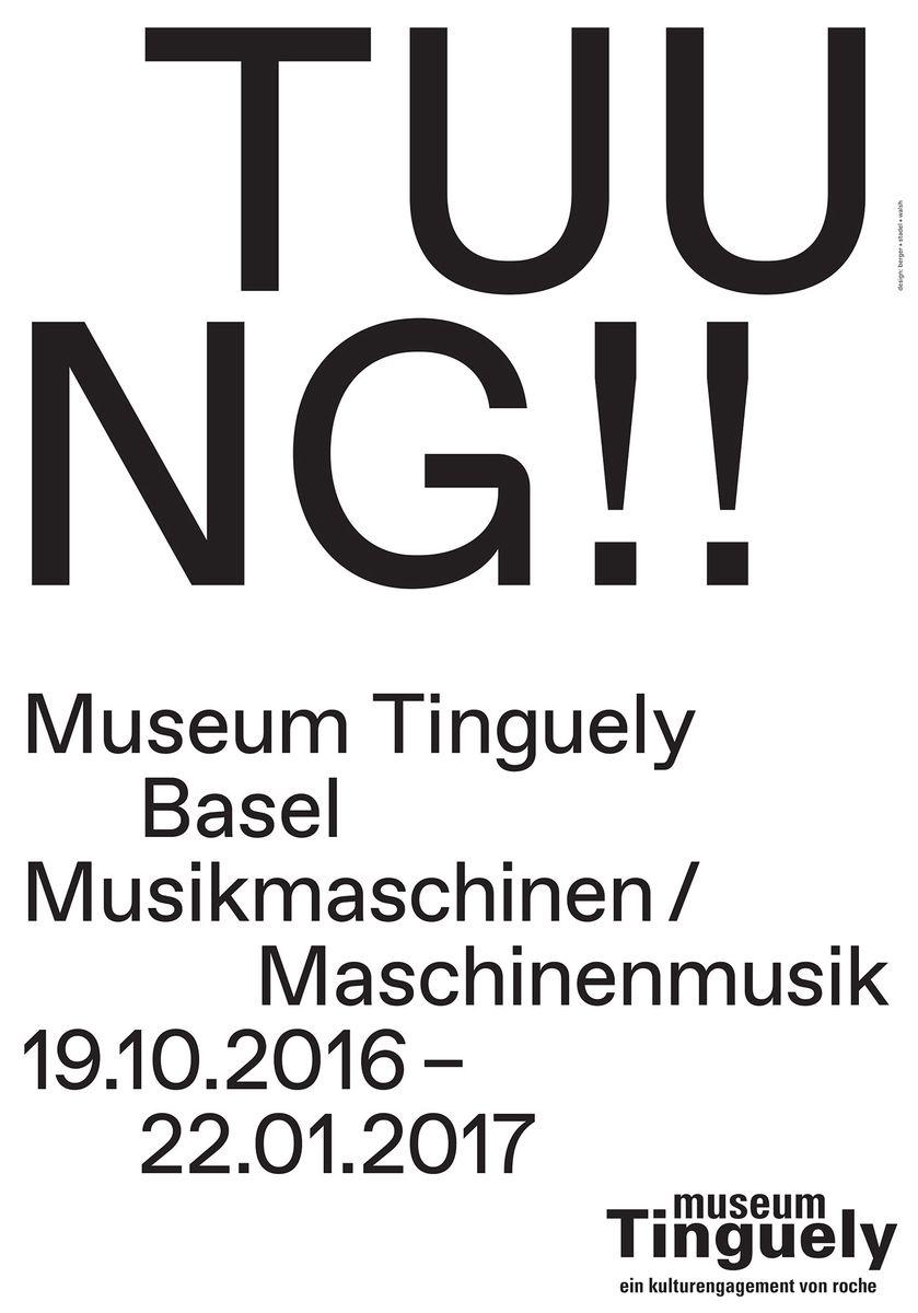 """berger + stadel + walsh (Basel): """"Musikmaschinen – Maschinenmusik"""" © 100 Beste Plakate e. V."""