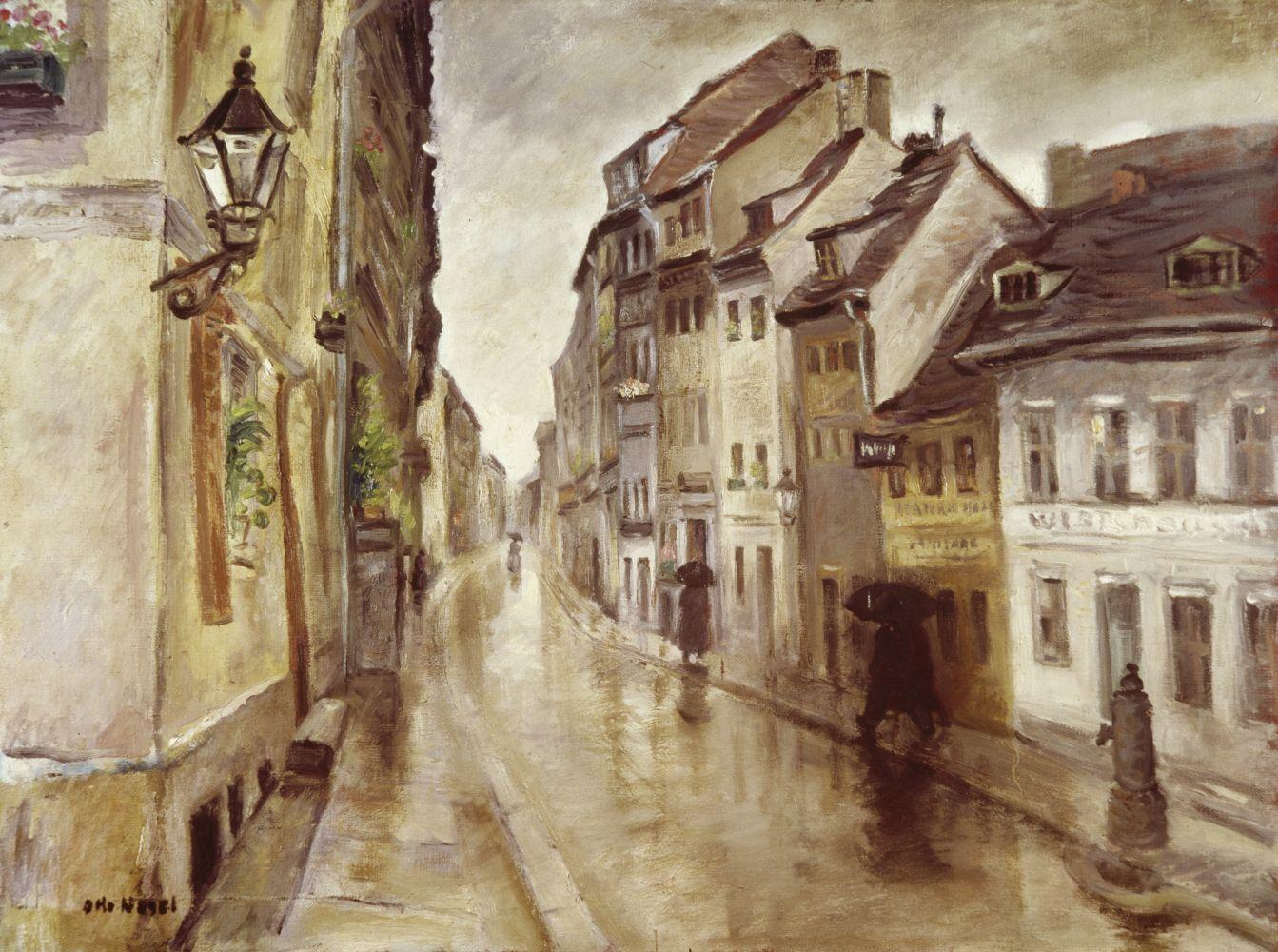 Otto Nagel: Petristraße im Regen (1941) © VG Bild-Kunst 2017 / Staatliche Museen zu Berlin, Nationalgalerie