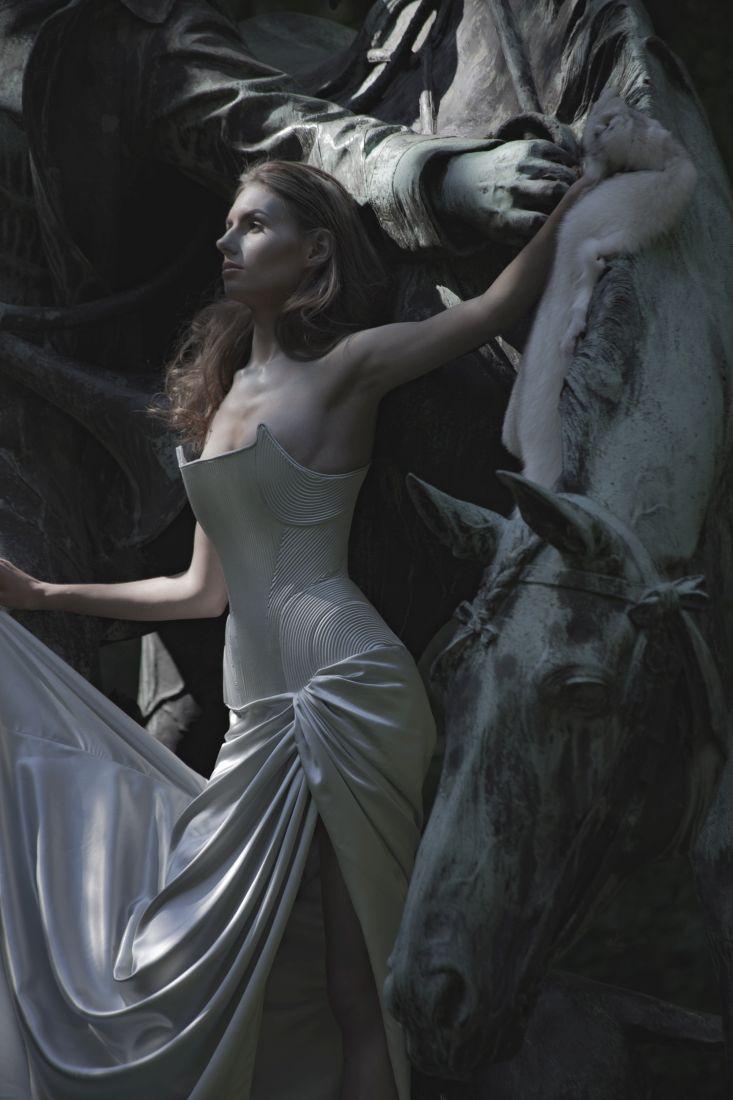 Das Kleid und die Muse des Designers, Johanna Blohm © Dennis Zorn