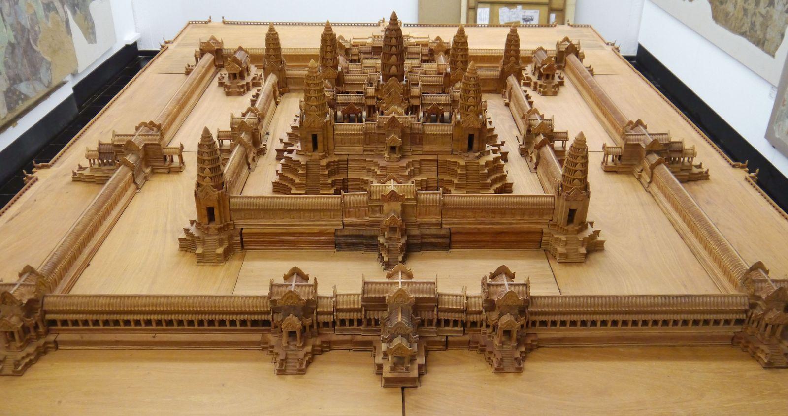 Modell der Tempelanlage Angkor Wat im Maßstab 1:50. Foto: Staatliche Museen zu Berlin