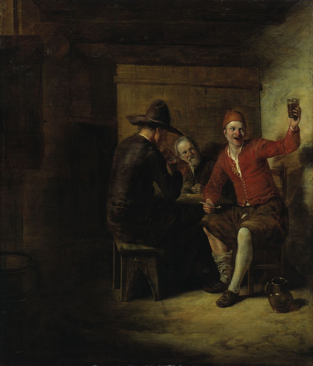 "Pieter de Hooch ""Der vergnügte Zecher"" (um 1650)  © bpk / Gemäldegalerie, Staatliche Museen zu Berlin / Jörg P. Anders"